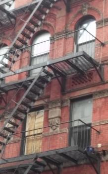 New York tenement neighborhood